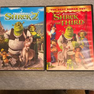 Shrek 2 and Shrek the Third DVD for Sale in Greensboro, NC