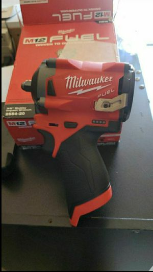 """MILWAUKEE M12 FUEL 3/8"""" STUBY IMPACT WRENCH TOOL ONLY NO BATTERY NO CHARGER for Sale in San Bernardino, CA"""