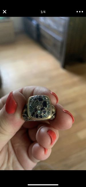 Size 8 John Hardy Designer Sapphire 14k Gold and Sterling Silver Ring for Sale in La Mesa, CA