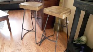 West elm bar stools wood set $80 for Sale in South Gate, CA