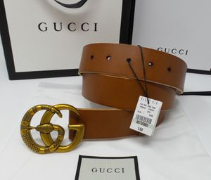 Gucci Unisex Belt Brown Mens Womens LV Louis Ferragamo Versace Fendi burberry wallet new for Sale in New York, NY