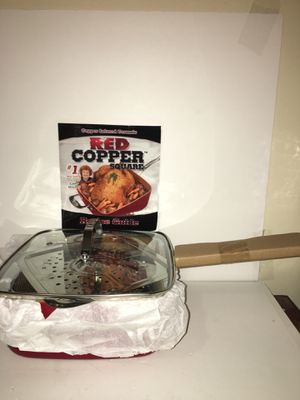 Red Copper Chef Square Pan 5 Piece Cookware set for Sale in Brooklyn, NY