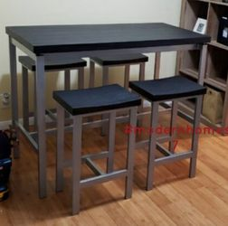 Counter Height Black Breakfast Dining Table Set for Sale in Buena Park,  CA