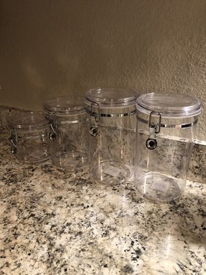 Acrylic Canister Set for Sale in Orlando, FL