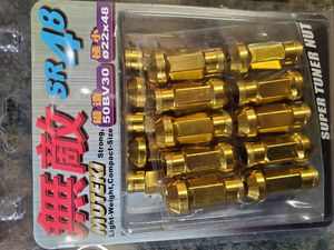 Muteki 12x1.5 Yellow Gold Tuner Lugs Lug Kit Lug nuts for Rims Wheels for Sale in Chicago, IL