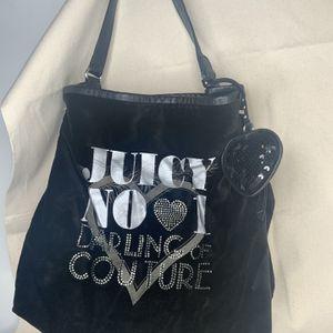 Juicy Couture Black Velvet Shoulder Bag, Women's Purse for Sale in Gresham, OR