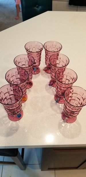14 patio glasses with charms for Sale in Manteca, CA
