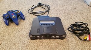 Nintendo64 with power and input cables and one controller for Sale in Fairfax, VA