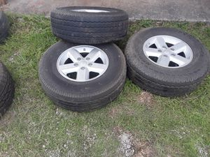 3 wheels and tires for a jeep wrangler for Sale in Smyrna, TN