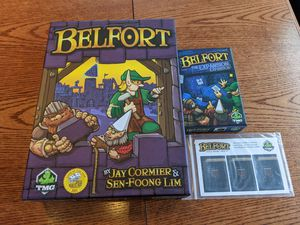 Belfort Board Game with The Expansion Expansion and Guild Promo #1 OOP for Sale in Evergreen, CO