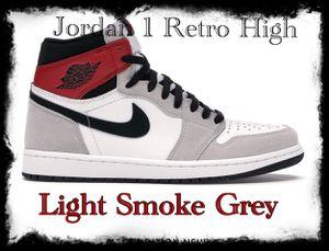 Jordan 1 Retro High-Light Smoke Grey-US 10 for Sale in Missouri City, TX