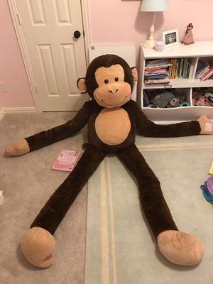 7' Plush Monkey Toy for Sale in Prosper, TX