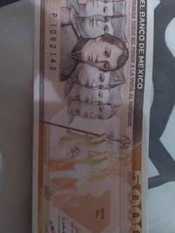 5.000 De México Unc $35 for Sale in Frisco,  TX