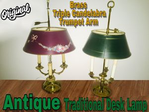 Brass antique candelabra lamp for Sale in Sylmar, CA