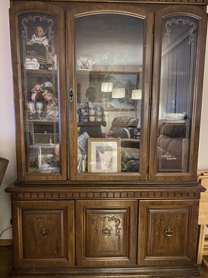 Armoire / Hutch / China Cabinet for Sale in Garden Grove, CA