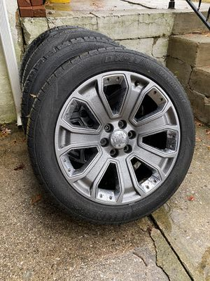 "Stock OEM GMC Denali 22"" wheels w/tires for Sale in Laurel, MD"