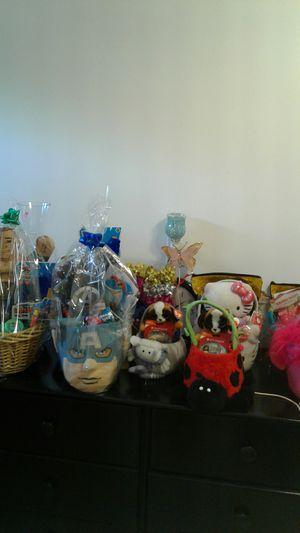 Easter baskets hello kitty captin america marvel slime trolls birthday gift for Sale in West Covina, CA