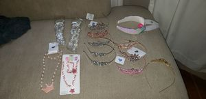 Giant set of girls princess crowns/tiaras and jewelry for Sale in Kent, WA