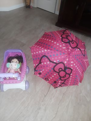 Baby stroller and hello kitty umbrella for Sale in Kissimmee, FL