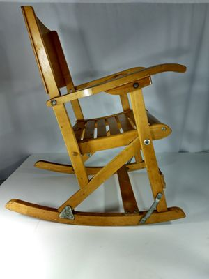 Folding antique maple child's rocking chair for Sale in Portland, OR