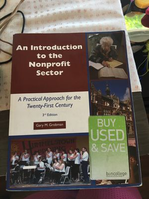 Nonprofit sector textbook for Sale in San Antonio, TX