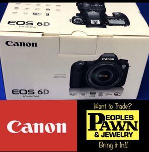 Canon EOS 6D 20.2 MP CMOS DSLR Camera for Sale in Davie, FL