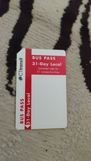 CT Transit Monthly Pass for Sale in Portland, CT