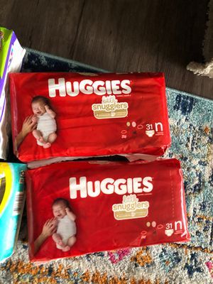 "6 packs of newborn size ""N"" diapers. Each one $5 or take all $30 for Sale in Fullerton, CA"