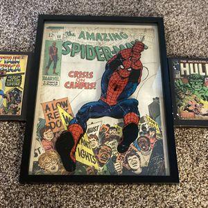 Glass Framed Spider Man for Sale in Redmond, OR