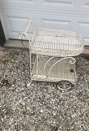 Vintage Wrought Iron Tea Cart for Sale in Brazil, IN