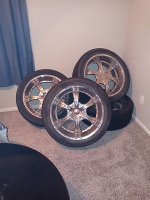 22 inch VCT rims and tires for Sale in Deer Park, TX