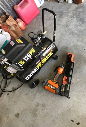 Rigid framing nail gun and compressor for Sale in Woodway, WA