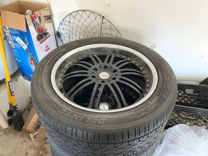 Black Enkie style Rims 305/45R22 for Sale in March Air Reserve Base, CA
