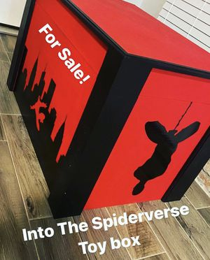 Miles Morales Spider-Man Custom Wooden Toy Box for Sale in Greenwell Springs, LA