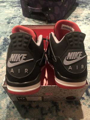 Nike Jordan 4s Black/Red size 10.5 for Sale in March Air Reserve Base, CA