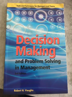 Decision Making and Problem Solving in Management for Sale in Delaware, OH