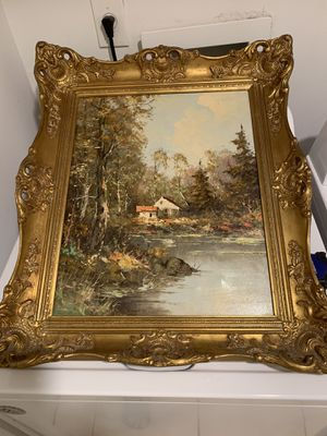 Very old picture maybe 100 years Real painting for Sale in Boca Raton, FL