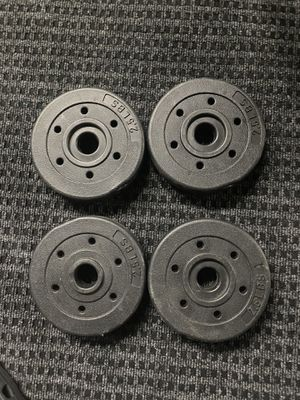 Weight plates for standard 1inch bar for Sale in Oakland, CA