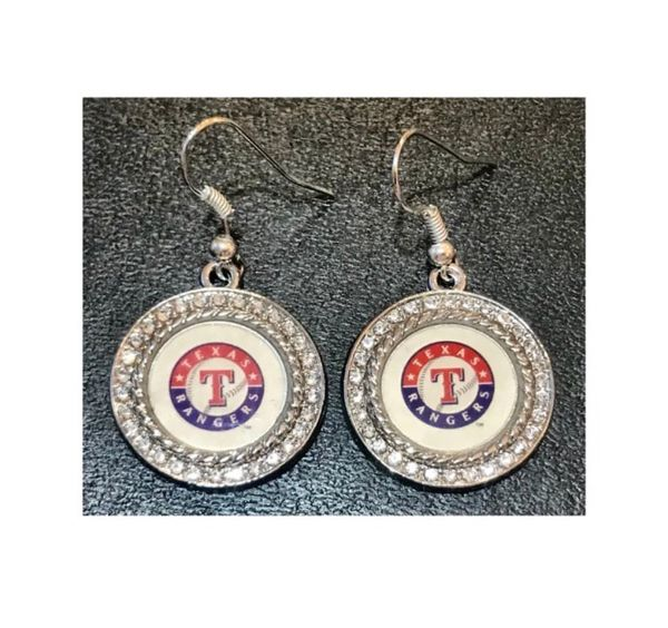 Gorgeous TX Rangers Crystal Earrings