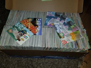 Giant over 2000 assorted ty beanie baby trading card deal with bonus for Sale in Leominster, MA