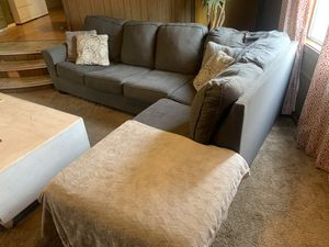 Grey cloth sectional couch for Sale in Oceanside, CA