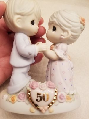 """Precious Moments, """"We Share a Love Forever Young""""; For 50 Years Marriage; 2 Pictures Here for Sale in Westland, MI"""