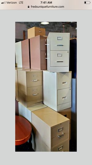 2 drawer metal file cabinets for Sale in Grosse Pointe, MI