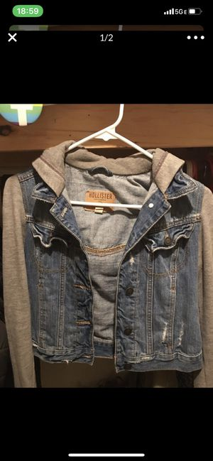 Hollister Jean Hoodie Jacket for Sale in Mukilteo, WA