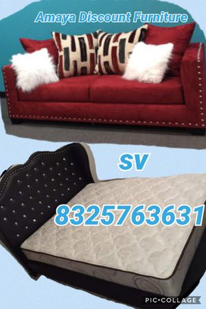 Special bundle deal brand new furniture queen with mattress for Sale in Houston, TX