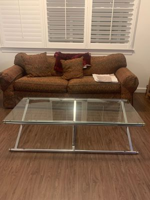 Deco chrome and glass coffee table for Sale in Levittown, NY