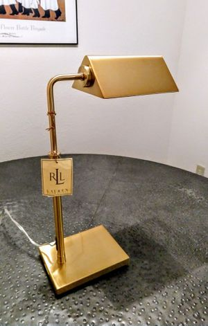Brass Ralph Lauren Modern Bankers Desk Lamp for Sale in Durham, NC