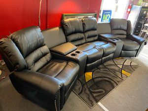 4 Pcs Power theater motion Sectional• 4 recliners 2 Consoles•Same day delivery•Financing available for Sale in Las Vegas, NV