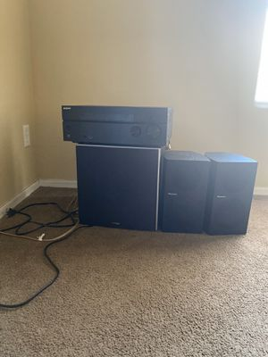 Sony Receiver STR-DH740 and Polkaudio Powered Subwoofer PSW10 and Two Pioneer speaker's SP-BS21-LR for Sale in Avondale, AZ