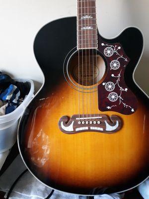 Top Seller EpiphoneEJ-200SCE Acoustic-Electric GuitarVintage Sunburst for Sale in Hackettstown, NJ